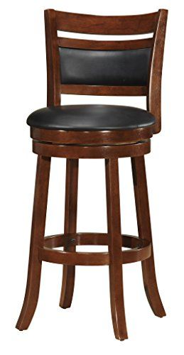 Boraam 42829 Bristol Bar Height Swivel Stool 29inch Cappuccino