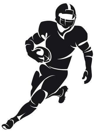 Stock Vector | Football Tees | American football players