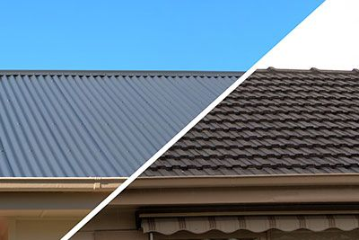 Replacing Roof Tiles With Colorbond Fibreglass Roof Roofing Metal Roof