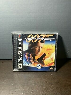 007 The World Is Not Enough Black Label Playstation 1 Ps1 Mint