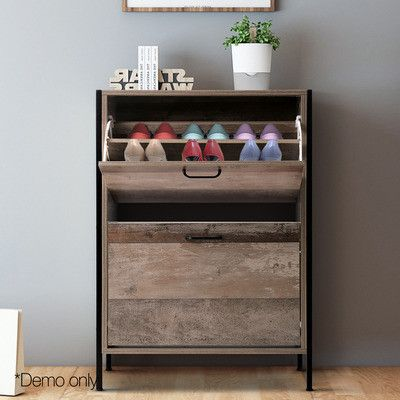 Dwellhome 12 Pair Wooden Shoe Rack Cabinet Reviews Temple Webster In 2020 Wooden Shoe Racks Wood Storage Cabinets Trending Decor
