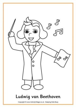 Beethoven 2020 Muzisyenler Cizim Sinif