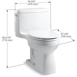 Kohler Santa Rosa White Watersense Compact Elongated Chair Height 1 Piece Toilet 12 In Rough In Size At Lowes Com Water Sense Kohler Toilet