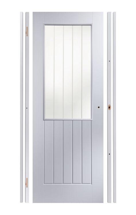 best website 5bec2 27a81 Easy Fit Panelled Pre-Painted Glazed Internal Door Kit, For ...
