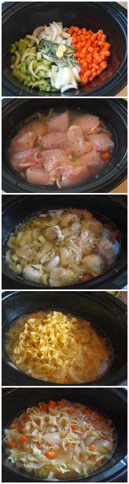 Crockpot Chicken Noodle Soup ~ Recipe Favorite