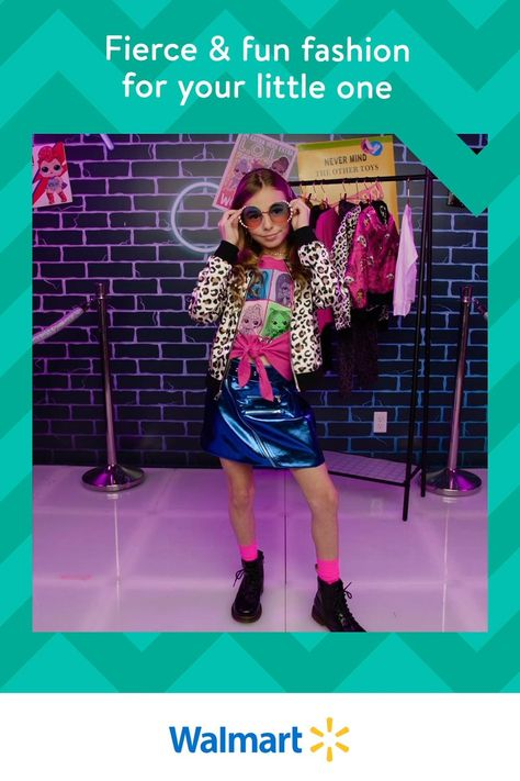 Strike a pose  do it in style with our exclusive L.O.L. Surprise! Remix clothing line! With all these bomber jackets, leopard prints, neon colors,  tons of stylish accessories, we think we might've found your little one's newest obsession.