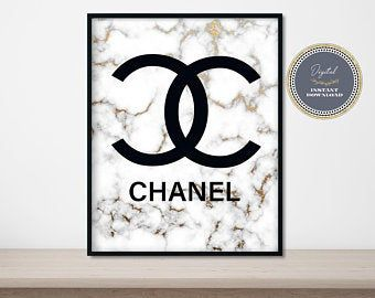 Gold Marble Coco Chanel Wall Art Coco Chanel Poster Coco Etsy Chanel Wall Art Coco Chanel Poster Chanel Poster