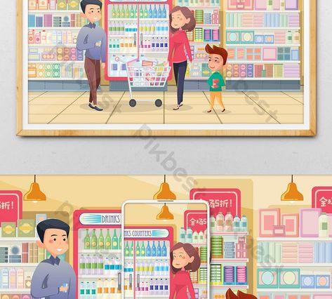 25 Gambar Kartun Orang Di Pasar Membeli Belah Keluarga Ibu Bapa Kartun Di Pasar Raya Untuk Download Culture Catalysts Penjual Kartun Gambar Kartun Gambar