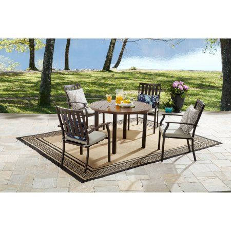 Better Homes & Gardens Camrose Farmhouse 6 Person Dining Table