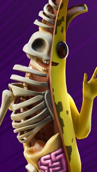 Fortnite Peely Bone Fortnitemares Skin Outfit 4k Hd Mobile