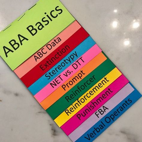 Awesome ABA: Basic Terms – The Bubbly Behaviorist Aba Therapy For Autism, Aba Therapy Activities, Autism Teaching, Autism Education, Autism Classroom, Special Education, Physics Classroom, Asd, School