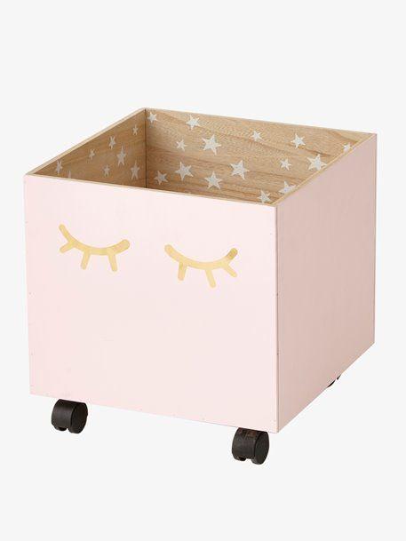 Spielzeugkiste Sweet Night Mit Rollen Rosa 1 Kiste