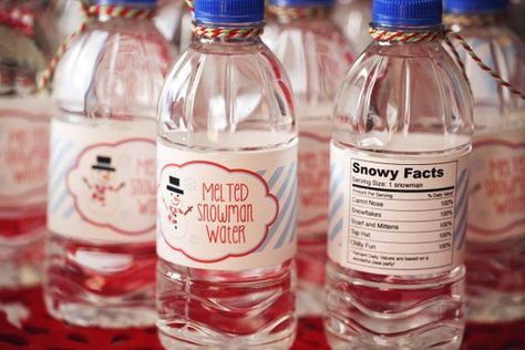 List Of Pinterest Waterbottle Labels Diy Melted Snowman Pictures