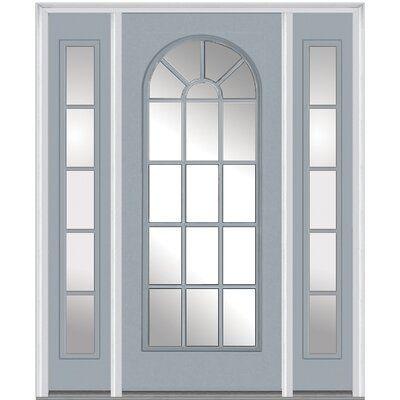 Verona Home Design Smooth Prefinished Fiberglass Prehung Front Entry Door Door Orientation Left Hand Inswing Door Si In 2020 Front Entry Doors Entry Doors French Doors