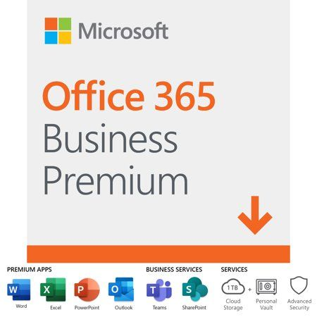 Microsoft 365 Business Standard 12 Month Subscription 1 Person Premium Office Apps 1tb Onedrive Cloud Storage Pc Mac Download Walmart Com In 2020 Microsoft Office Microsoft Office 365