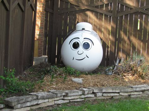 Dress up Your Boring Propane Tank With Our Funny Face by WrenGifts, $20.00