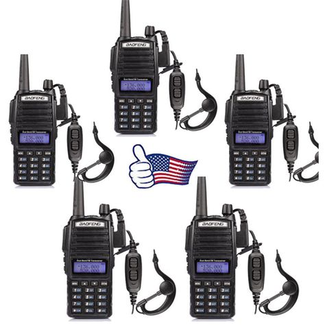 12XRetevis RT21 Walkie Talkies UHF 16CH CTCSS//DCS VOX radio TOT+6-Way charger US