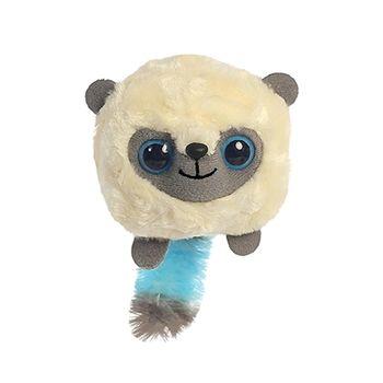 "YooHoo and Friends 5/"" Bush Baby Birthday Hat Pink Plush Cuddly Soft Toy Aurora"