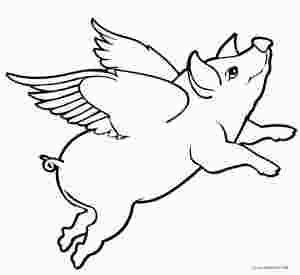 Flying Pig Coloring Page With Images Flying Pigs Art Animal