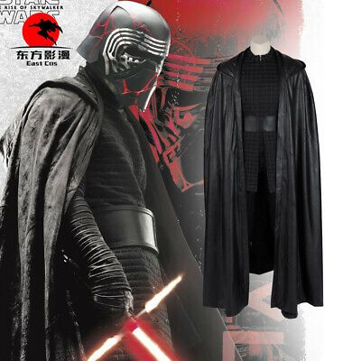 Details About Kylo Ren Cosplay Star Wars 9 The Rise Of Skywalker Costume Cloak Cape Gloves