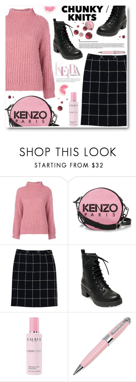 """""""Chunky knits"""" by ucetmal-1 ❤ liked on Polyvore featuring Boutique Moschino, Kenzo, ESCADA, Madden Girl, Orlane, ICE London and chunkyknits"""
