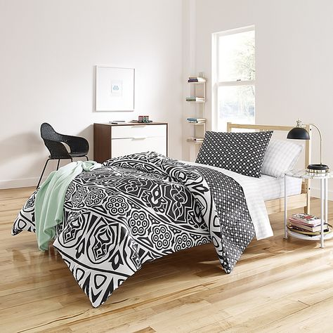 Shembel 6 Piece Reversible Twin Twin Xl Comforter Set In Black