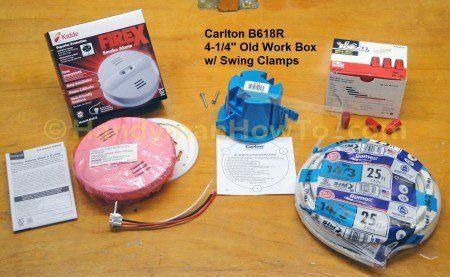 Smoke Alarm Installation Equipment And Wiring Materials Smoke Alarms Installation Work Boxes
