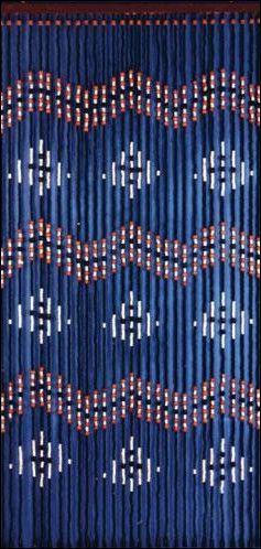 Diamond And Waves Pattern Black Wooden Door Beads Door Beads