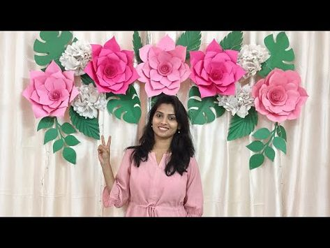 Easy Paper Flowers Backdrop For Birthday Baby Shower Wedding
