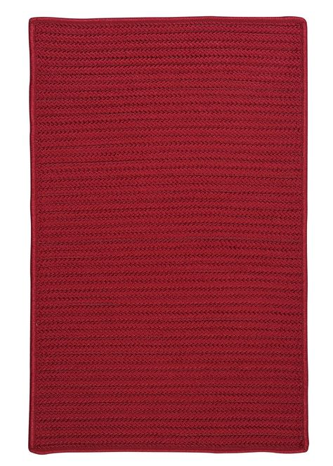 Glasgow Braided Red Area Rug Simply