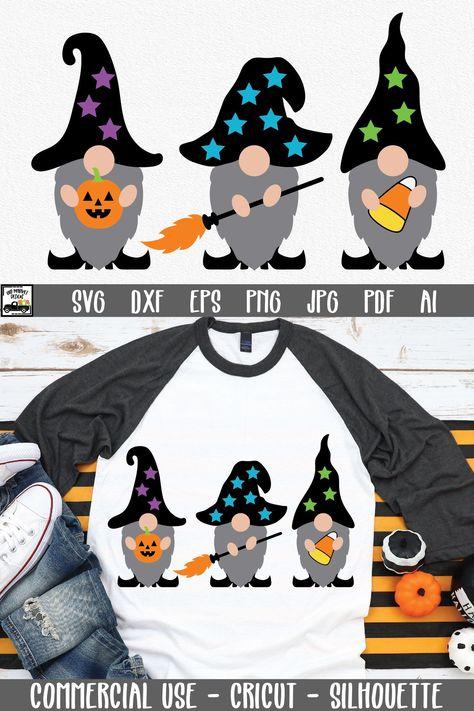 Halloween Gnomes SVG Cut File   Halloween SVG File (919298)   Cut Files   Design Bundles