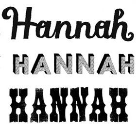 Hannah In Cool Fonts