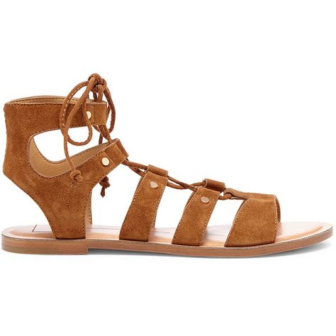 8c3c4259c256 Dolce Vita Jasmyn Lace-Up Flat Sandal ( 90) ❤ liked on Polyvore featuring