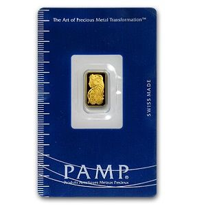 Pamp Suisse 1 Gram Gold Bar 9999 Fine In Assay