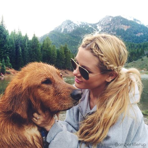 braids and pups <3 hair coulour envy!!