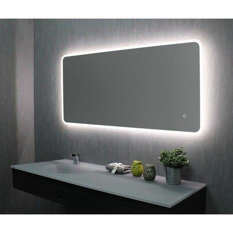 Miroir De Salle De Bains Avec Led 60 Cm X 120 Cm Hxl