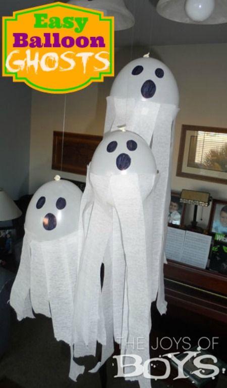 Balloon Ghosts: Easy Halloween Decorations   Best of The Joys of Boys    Pinterest   Halloween, Halloween decorations and Halloween crafts