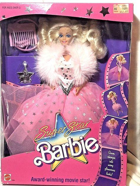 1988 Super Star Barbie Award Winning Movie Star #1604 Still Sealed ...