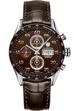 TAG Heuer Carrera Automatic Chronograph 43 mm with Brown Aluminum HEU0169526