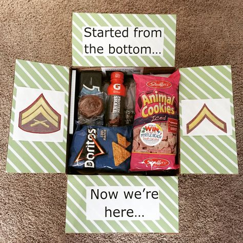 Military promotion care package…