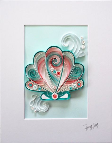 Seashell Quilled Home Décor