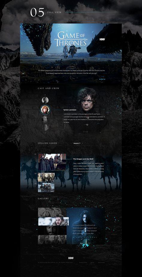 Game of Thrones Season 8 Web Design