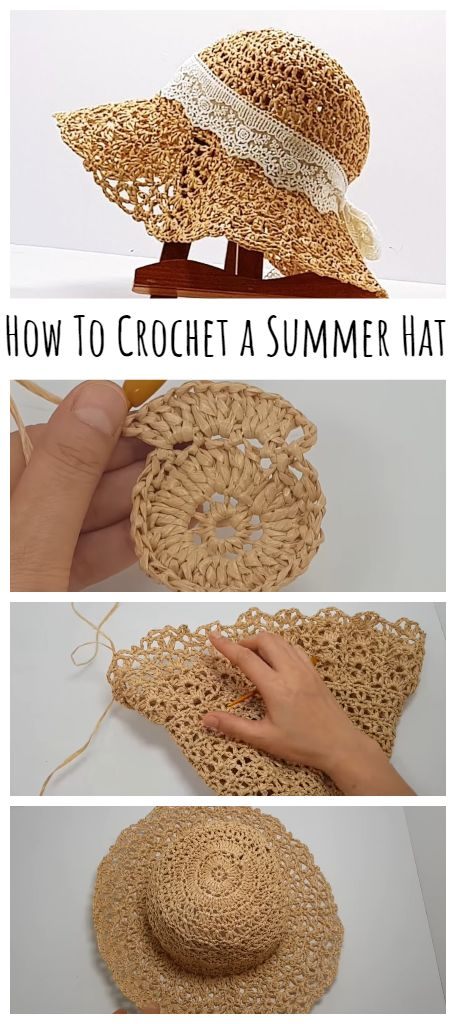 Crochet Summer Hats, Easy Crochet, Crochet Baby, Knit Crochet, Crotchet, Sombrero A Crochet, Crochet Beanie, Loom Knitting, Knitting Patterns