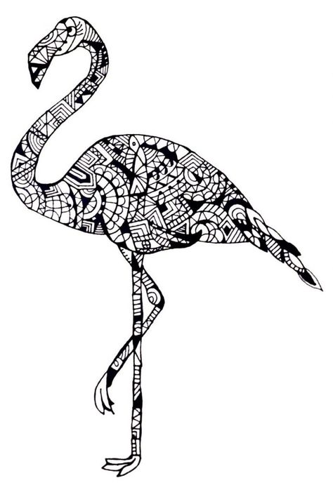 ausmalbilder tiere flamingo  ausmalbilder flamingo