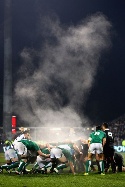 A scrum is formed during the International Test Match between New Zealand and Ireland at AMI Stadium on June 2012 in Christchurch, New Zealand.