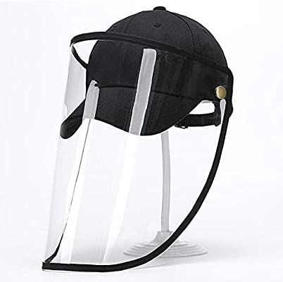 Ciujoy Safety Face Shield Mask Clear Detachable Baseball Cap With Clear Face Mask Anti Spitting Full Prot Hat With Face Shield Baseball Cap Face Shield Masks