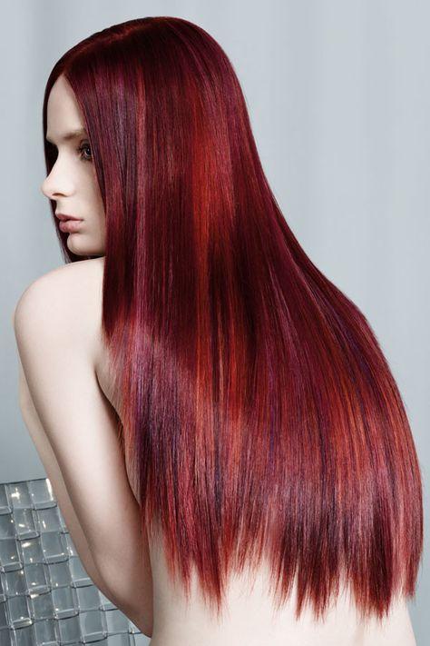 Schwarze haare rot tönen