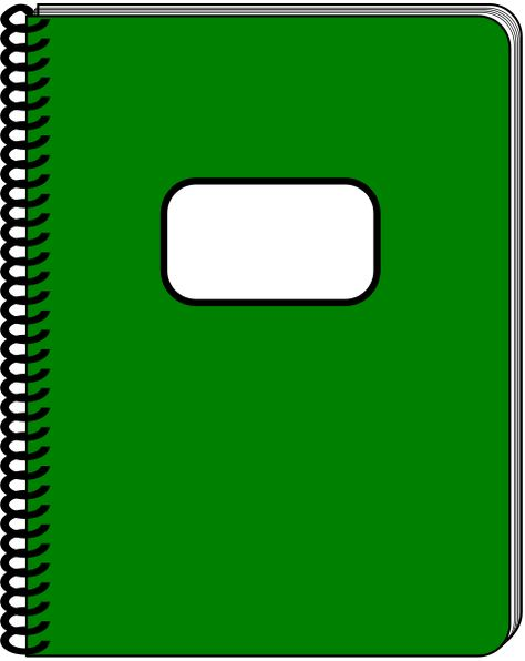 Spiral Notebook Dark Green Education Supplies Notebook Free Clip Art Cool Notebooks Clip Art
