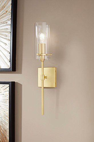 Effimero Vanity Light Fixture Satin Brass W Clear Cylinder Linea Di Liara Ll Wl31 Sb Wall Sconces Living Room Hallway Wall Lights Sconces Living Room