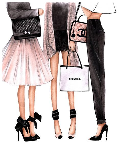 Fashion Illustration Chanel art Chanel print Fashion wall art Coco